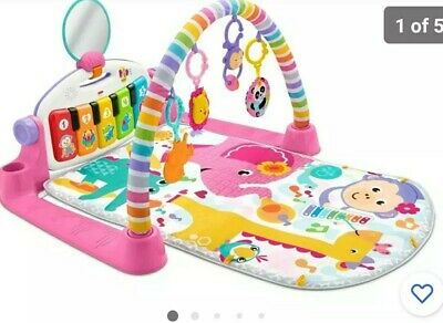 £79.99 • Buy Fisher-Price FWT25 Deluxe Kick And Play Piano Gym, Multi-Colour Tatty Packaging