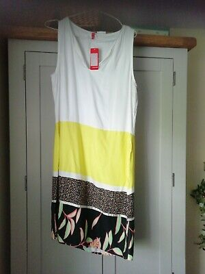 £8 • Buy Ladies Miss Captain Size 10 Summer Dress Holiday Block Colour