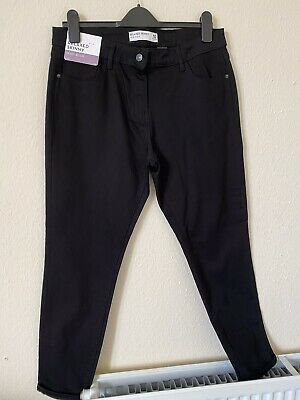 £10.50 • Buy Next Black Jeans Size 14 Relaxed Skinny Mid Riser New With Tags