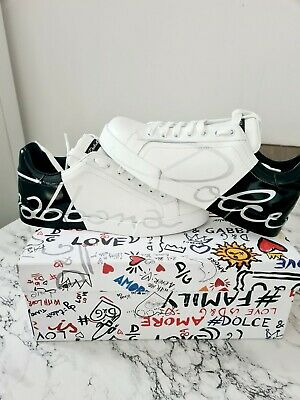 £400 • Buy Dolce & Gabbana White Leather Trainers Size 7 Uk