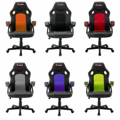 £54.99 • Buy Office Chair Adjustable Racing Gaming Swivel PU Leather Desk Mesh Seat Computer