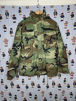 $65 • Buy Vintage US Military M65 Field Jacket Small Regular Woodland Camo Cold Weather