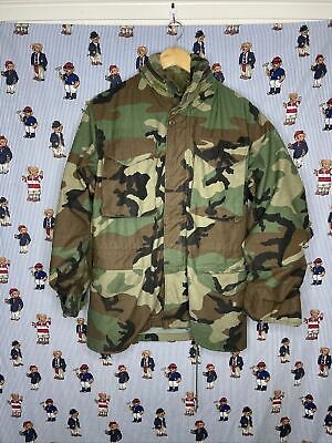 $65 • Buy Vintage US Military M65 Field Jacket Small Long Woodland Camo Cold Weather