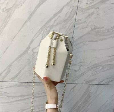 £33.50 • Buy Ladies Cross Body Bucket Bag With Chain Straps Available Soon
