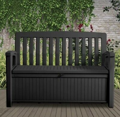 £95 • Buy Keter Patio Wood Effect Garden Storage Bemch Box- Partial Assemble Required