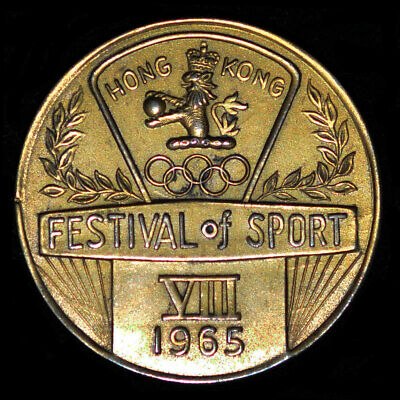 £141.40 • Buy 1965, 1968 Hong Kong Festival Of Sport Medal - A Pair Of Sports Medals 35mm