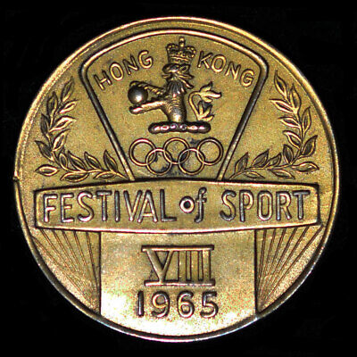 £148.05 • Buy 1965, 1968 Hong Kong Festival Of Sport Medal - A Pair Of Sports Medals 35mm