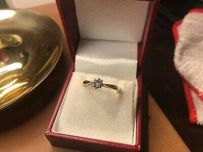 £150 • Buy Vintage 18ct Gold & Diamond Solitaire Ring - 0.33ct