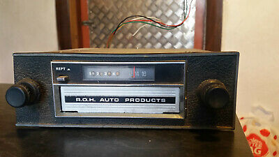 AU150 • Buy Rare ROH Auto Products 8 Track Push Button Car Radio Ford Gt Monaro Holden