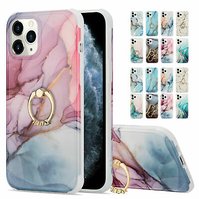 AU19.18 • Buy Marble Pattern Ring Kickstand Case Cover For IPhone 12 Pro Max/12 Mini/11 Pro