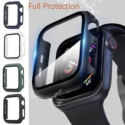 AU7.99 • Buy For Apple Watch IWatch SE 6 5 4 40/44 Mm Screen Protector Case Full Cover Glass