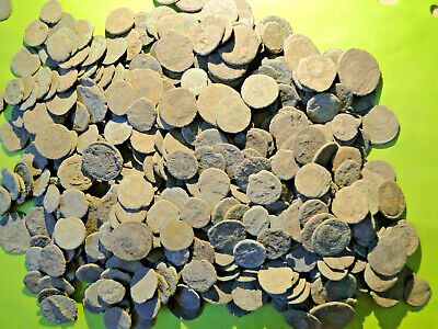 £19.95 • Buy 8 Uncleaned And Unresearched Roman Bronze Coins, Mostly  As Dug .