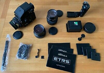 £450 • Buy Bronica ETRS With AE-II Viewfinder, Zenzanon Lenses And Accessories. MINT