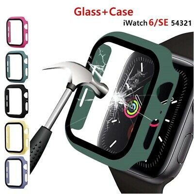 $ CDN6.21 • Buy For Apple Watch Screen Protector Tempered Glass Cover Case Series 3/4/5/6/SE