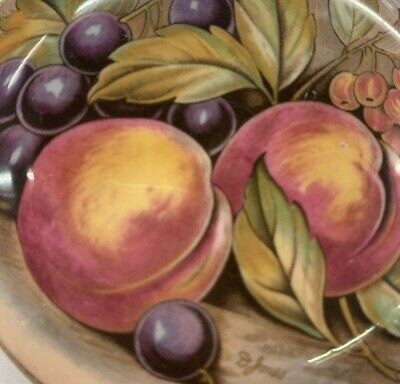 £9.99 • Buy Aynsley Orchard Fruit / Gold  4  Dish With Lid Signed D.jones
