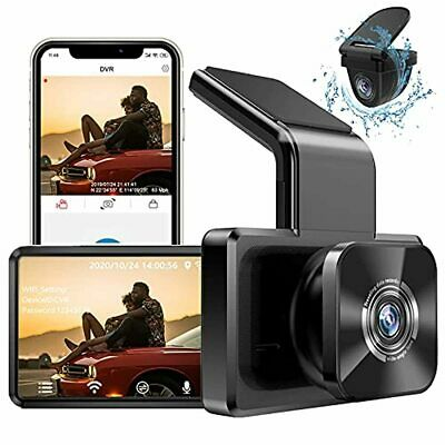 AU297.48 • Buy AUTOWOEL Dual Dash Cam With WiFi GPS, Front And Rear Car Camera With 3  IPS Scre