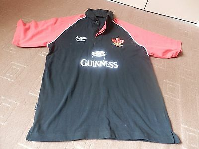 £5.99 • Buy Wales Guinness Short Sleeved Cotton Rugby Leisure Shirt - Medium - Vgc