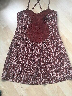 £7 • Buy Next Short Dress Lace Insert Strappy Cross Over Sz 12 Beach Summer Clearance