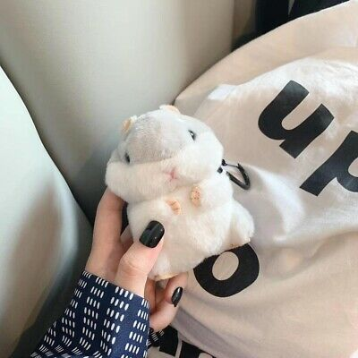 $ CDN20.32 • Buy IPhone AirPods 2 Earrings Gray Hamster Plush Doll Airpod Silicone Case