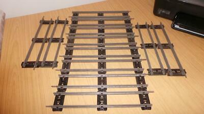 £16 • Buy AQ79: Hornby O Gauge 2 Rail Banked Straight Rail Track - 12 Pieces
