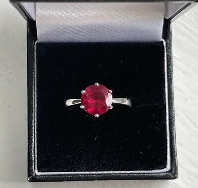 £600 • Buy Rare 3ct Ruby Pigeon's Blood Solitaire Ring. Engagement/Eternity. Size P