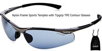 £11.99 • Buy Bolle Safety Sun Glasses Sports Driving Anti-Scratch UV Sun Protection TPE Black