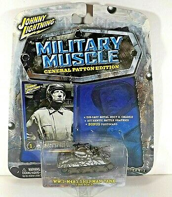 $3.20 • Buy Johnny Lightning Military Muscle General Patton WWii  M4A3 Sherman Tank  2003