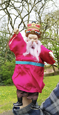 £10 • Buy Vintage Chinese Hand Glove Puppet.  Ceramic Head Hands Feet. Silk Clothes. 10