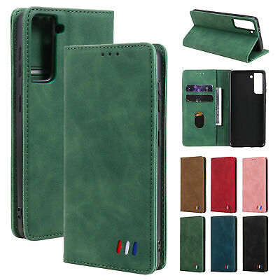 AU20.62 • Buy Retro Magnetic Flip Leather Card Wallet Case For Samsung S7 S8 S9 S10 S20 S21