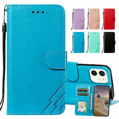 AU18.76 • Buy FOR IPhone 12 11 Pro XS Max XR 7 Luxury PU Leather Wallet Card Holder Cover Case