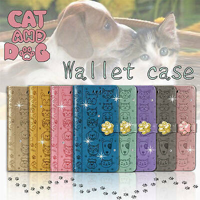 AU21.18 • Buy Fr IPhone 12/11 Pro Max/Xs/Xr/7/8 Cute Cat Bling Leather Wallet Stand Case Cover