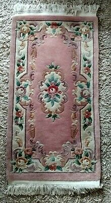 £5.99 • Buy Pretty Chinese Rug 120 X 67 Cms. (4' X 2'3 ') Approx