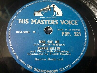 £5 • Buy Ronnie Hilton - Give Me My Ranch / Who Are We - 78 Rpm