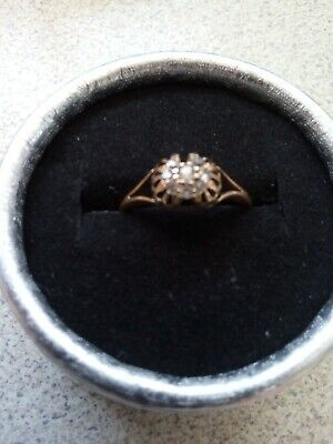 AU390 • Buy Old Cut Diamond Gold Ring - 18ct Yellow Gold - Vintage Antique
