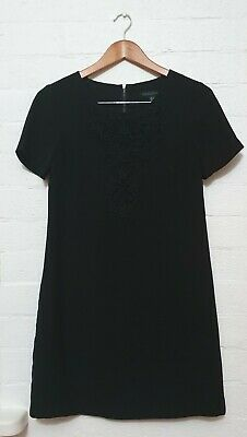 AU30 • Buy FOREVER NEW Designer Label Womens Swing Straight Black Party Work Dress, Size 8