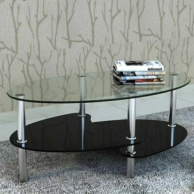 AU93.99 • Buy VidaXL Coffee Table With Exclusive Design Black Office Side Console Furniture