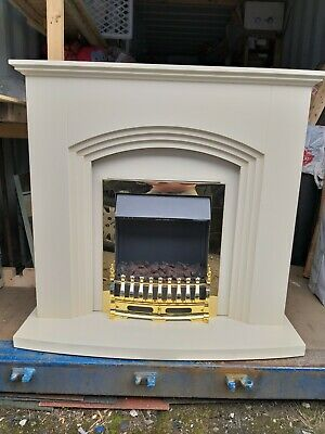 £45 • Buy Modern White Flat Wall 2KW Electric Fire Surround Set Complete Fireplace.