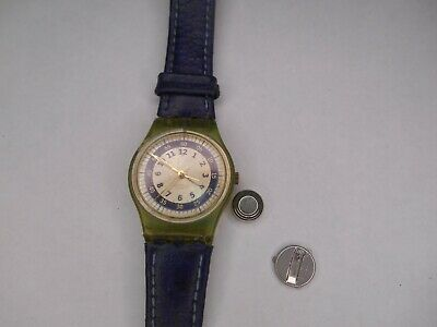$ CDN11.27 • Buy Vintage Swiss Swatch Watch - Working With Broken Battery Tray Parts Watch