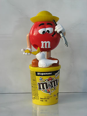 $62.17 • Buy M&M's Candy Dispenser Red Farmer Food Hen Chiken Used Rare
