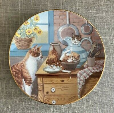 £3.60 • Buy Hamilton Collection Table Manners Limited Edition Cat Collector Plate 1988