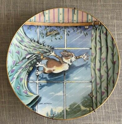 £3.60 • Buy Danbury Mint Limited Edition Comical Cats Curtain Call Collector Plate 1996
