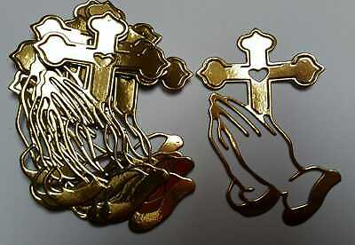 £0.99 • Buy 10 Die Cut Gold  Religious Toppers  For Crafts