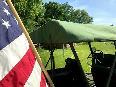 $260 • Buy M38A1 Military Willys Jeep Top Canvas Poly Cotton Duck OD Army Green