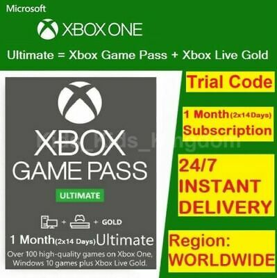 $ CDN5.95 • Buy XBOX LIVE 1 MONTH GOLD + Game Pass Ultimate Code (2 X 14 Day) INSTANT 24/7