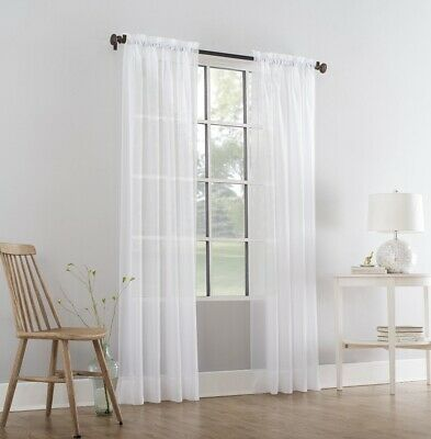 $18.49 • Buy 4 Pack - New - Mainstays Marjorie Curtain Panel - Arctic White - 59 X 84  Each