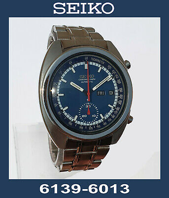 $ CDN265.28 • Buy Lovely SEIKO 6139-6013 Chronograph Automatic Watch. Working, With 1 Defect.