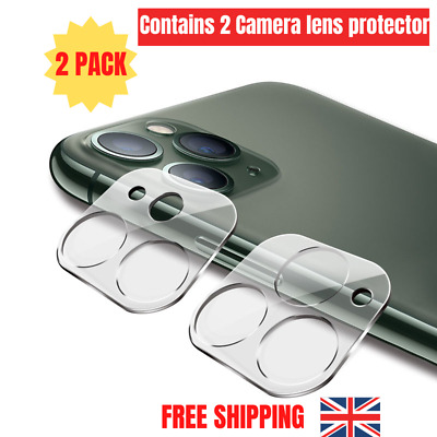 £2.99 • Buy 2 PACK Camera Lens Tampered Glass Protector For IPhone 11/12 Plus Pro Max XS XR