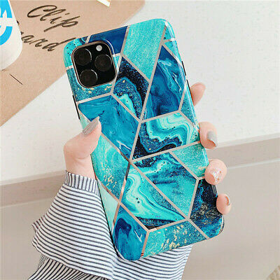 AU4.99 • Buy IPhone 11 12 XR XS MAX SE 8 7 Soft Case ShockProof Marble Phone Cover Silicone