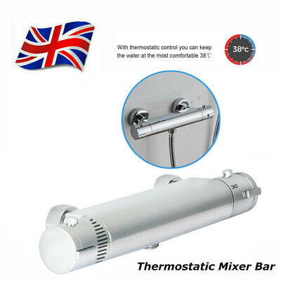 £27.99 • Buy Thermostatic Shower Mixer Valve Bar Tap Bathroom Wall Mounted Faucet 1/2  Outlet