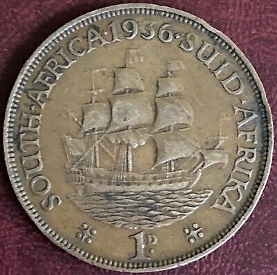 £1.99 • Buy South Africa - One Penny Coin - 1936 (GY12)